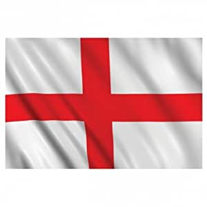 England St George Flag 5ft x 3ft - 75 Denier - Double Stiched Hem - 100% Woven Polyester