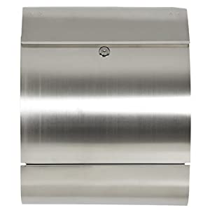 New Modern Locking Stainless Steel Mailbox Letterbox Office Home