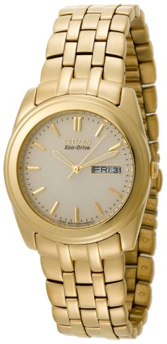 Citizen Men's Eco-Drive Gold-Tone Day-Date Watch #BM8222-56P