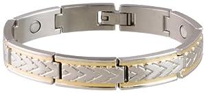 Sabona 25080 Wheat Chaff Duet Magnetic Bracelet, Extra Large
