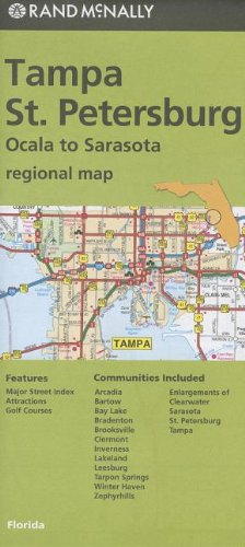 Rand McNally Folded Map: Tampa and St. Petersburg Regional Map