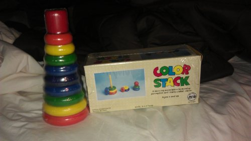 Color Stack Wooden Rainbow Stacker - 1
