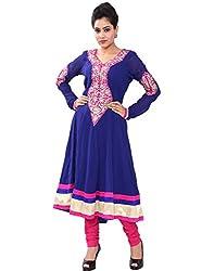 Chhipaprints Womens Georgette Anarkali Kurta (Womenanarkali1042R.Blue_36 _Blue _36)