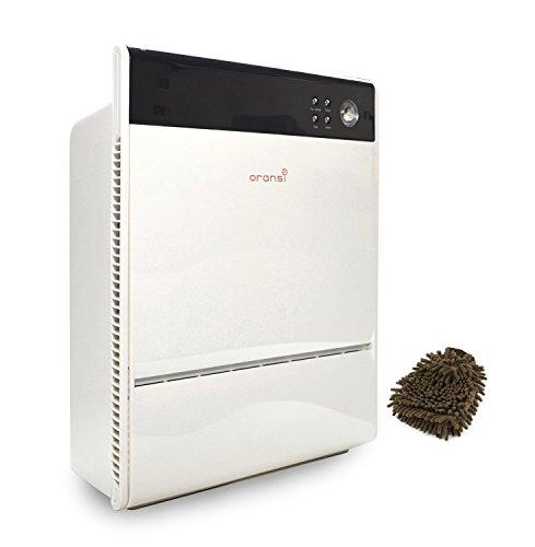 Oransi V HEPA Max Air Purifier, V-HEPA (Complete Set) w/ Bonus: Premium Microfiber Cleaner Bundle