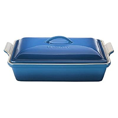Le Creuset 4 qt. Heritage Covered Rectangular Casserole - Marseille - 11.5L x 7.75W in.