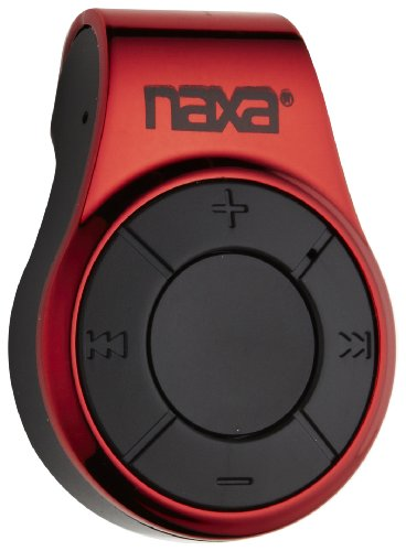 Naxa NM-107 MP3 Player with 4 GB Built-In Flash Memory (Red