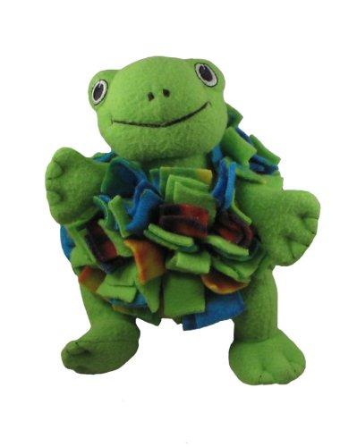 Kyjen Fleecy Squeaks Ball Dog Toy, Frog