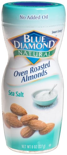 Blue Diamond Oven Roasted Almonds Sea Salt, 8-Ounce Jars (Pack of 6)