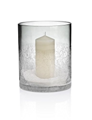 Half Crackle Hurricane Candleholder
