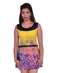 Jevaraz Women's Dress (Yellow, L)