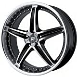 Motegi MR107 16x7 Black Wheel / Rim 5x4.5 with a 45mm Offset and a 72.60 Hub Bore. Partnumber MR10767012345