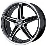 Motegi MR107 16x7 Black Wheel /