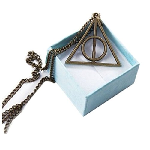 Harry Potter Lovegood Replica of Harry Potter and the Deathly Hallows Inspired Chain (Bronze)
