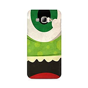 Motivatebox- Green Monster Premium Printed Case For Samsung A3 2016 -Matte Polycarbonate 3D Hard case Mobile Cell Phone Protective BACK CASE COVER. Hard Shockproof Scratch-