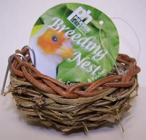 Brand New Prevue Pet Products Canary Twig Nest 3in diameter