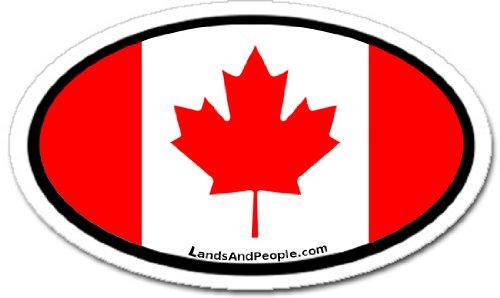 Canada CAN Flag Car Bumper Sticker Decal Oval