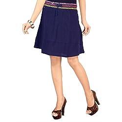 SFDS Women's Blue Cotton Skirt