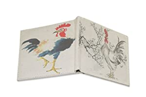 MIAN Chinese Painting Roosters Environmentally Friendly Canvas Wallet - Size: Medium - Multicoloured from MIAN