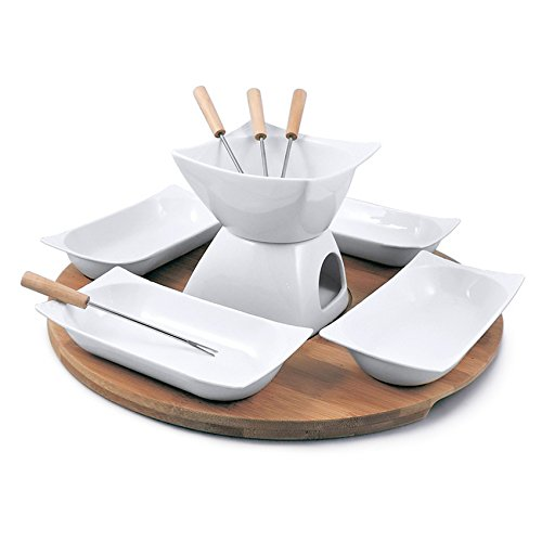 Swissmar Sensui 12 Piece Chocolate Fondue Set, White