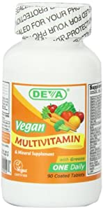 Deva Vegan Vitamins Daily Multivitamin & Mineral Supplement  90 tablets (Pack of 2)