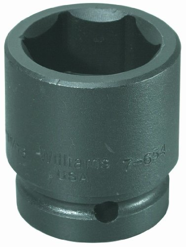 Williams 7-6172 1 Drive Impact Socket, 6 Point, 5-3/8-Inch