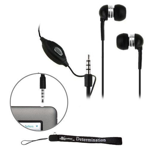 eBigValue: Black Crystal Clear High Quality HD Noise Filter Earbuds Earphones Headphones ( 3.5mm Jack ) with Microphone for New Barnes and Noble Nook Color
