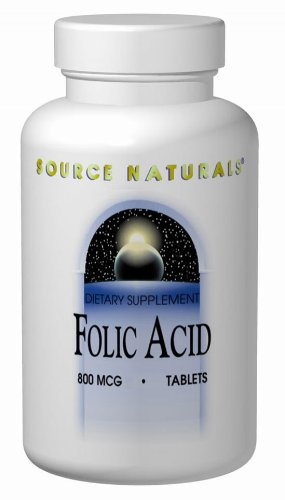 Source Naturals Folic Acid, 200 Tabs 800 MCG