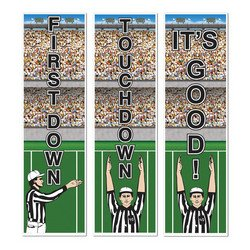 Football Cutouts   (3/Pkg)
