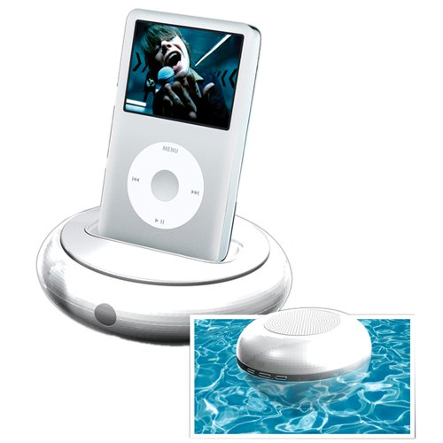 Excalibur 145 Soundmaster Satellite Floating Wireless Speakers With Universal Dock For Ipod