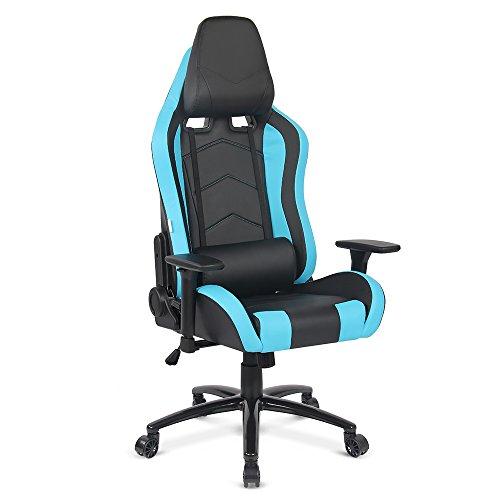 IKAYAA-Gaming-Stuhl-Bro-Schreibtischstuhl-Chefsessel-mit-Kissen-und-Armlehnen-D-9263