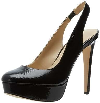 Calvin Klein Women's Gracen New Patent Lizard Platform Pump,Black,5 M US