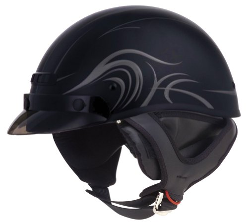 Gmax Gm 35 Half-Face - Dressed Motorcycle Helmet Large Derk Flat Black