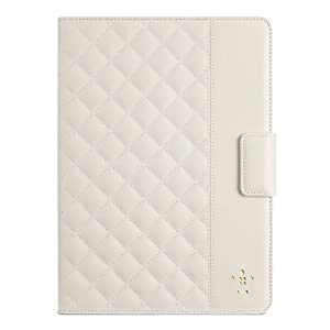 Belkin Quilted Cover Case with Stand for iPad Air in Cream - F7N073b2C01 by BELKIN
