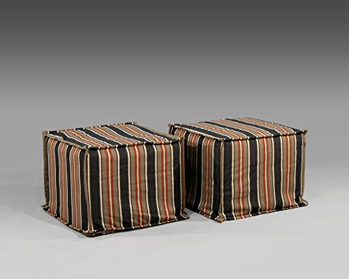 Valentia Home Blaire Ottoman, Dylan's Grove/Dungaree - 1