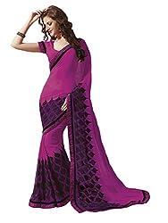 Subhash Sarees Daily Wear Pink Color Georgette Saree Sari Sarees