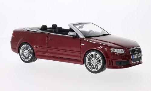 Audi RS4 Cabriolet, met.-rot , Modellauto, Fertigmodell, Maisto 1:18