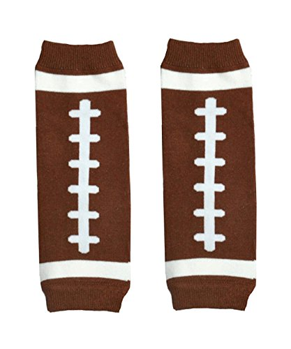 KWC - NEWBORN Touch Down American Football Brown Baby Leg Warmer/ Leggings (Baby Leggings Football compare prices)