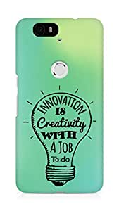 Amez Innovation is Creativity with a Job to do Back Cover For Huawei Nexus 6P