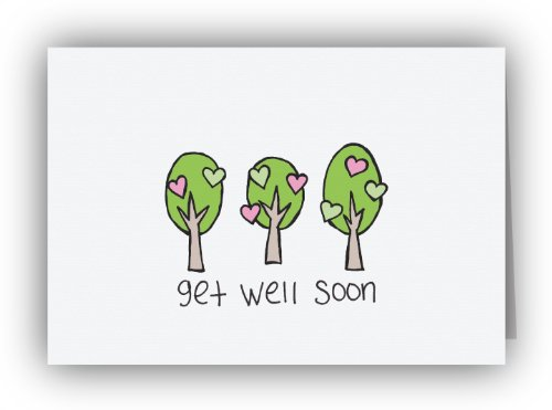 Lovely Trees Get Well Soon Cards