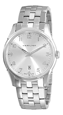 Hamilton Men's H38511153 Jazzmaster Thinline Silver Dial Watch