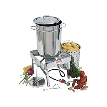 Bayou Classic 1195 Stainless Steel 32-Quart Turkey Fryer Kit With Stainless-Steel Burner