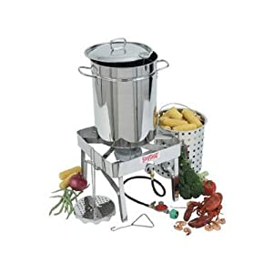Bayou Classic 1195 Stainless-Steel 32-Quart Turkey-Fryer Kit with Stainless-Steel Burner