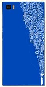 Brilliant multicolor printed protective REBEL mobile back cover for Xiaomi Mi 3 D.No.N-T-1308-XM3