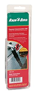 """Rain Bird FCKIT-1PK Drip Irrigation Easy Fit Faucet Connection Kit for 1/2"""" Tubing, Includes Pressure Regulator and Filter from Rain Bird"""