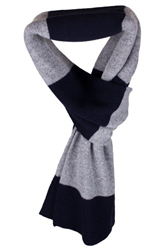mens-striped-100-cashmere-scarf-navy-light-gray-handmade-in-scotland-by-love-cashmere