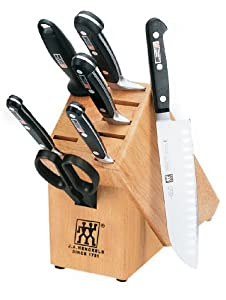 Zwilling J.A. Henckels Pro S Stainless-Steel 8-Piece Knife Set with Block