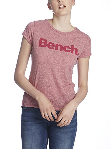 Bench Synchronization, T-Shirt Donna, Violett (Dark Pink Marl PK039X), Small