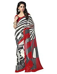 Vaamsi Georgette Printed Saree (Vega3059_Multi-Coloured_6.3 M Length)