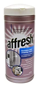 Whirlpool W10355049 Affresh Stainless Steel Cleaning Wipes, 35-Wipes by Whirlpool