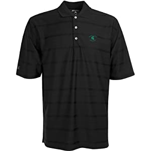 Michigan State Spartans Polo - NCAA Antigua Mens Tone Black by Antigua